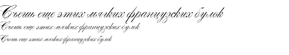 Как выглядит шрифт Alexandra Script