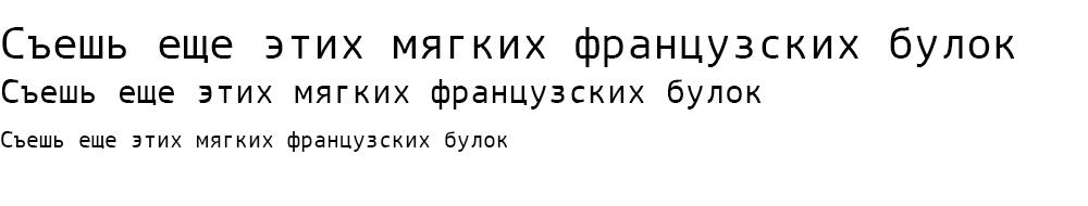 Как выглядит шрифт ArianAMUMono