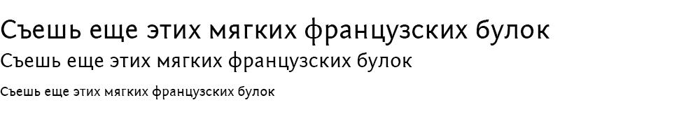 Как выглядит шрифт FontinSans