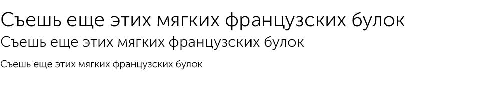 Как выглядит шрифт Museo Sans