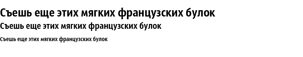 Как выглядит шрифт Sansus Webissimo